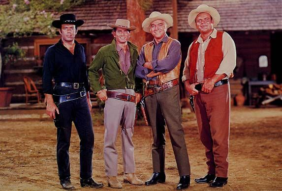 "For fourteen seasons and 431 episodes, the Cartwright family showed America a slice of the Old West. One of the longest running Western television series of all time had, what is arguably, the most recognizable openings of all time. From the fiery map, to the scenes of the Cartwright men looking manly, to the music that played in the background, the opening to ""Bonanza"" was a thing of beauty! READ ALL ABOUT IT IN MY BLOG POST!  http://stargazermercantile.com/bonanza/  #TV #Westerns #Bonanza"