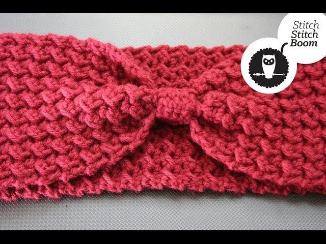 crochet tutorial moss stitch ear warmer