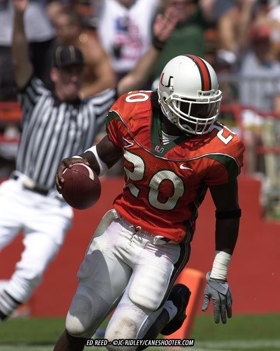 Ed Reed # 20 Miami Hurricanes SS