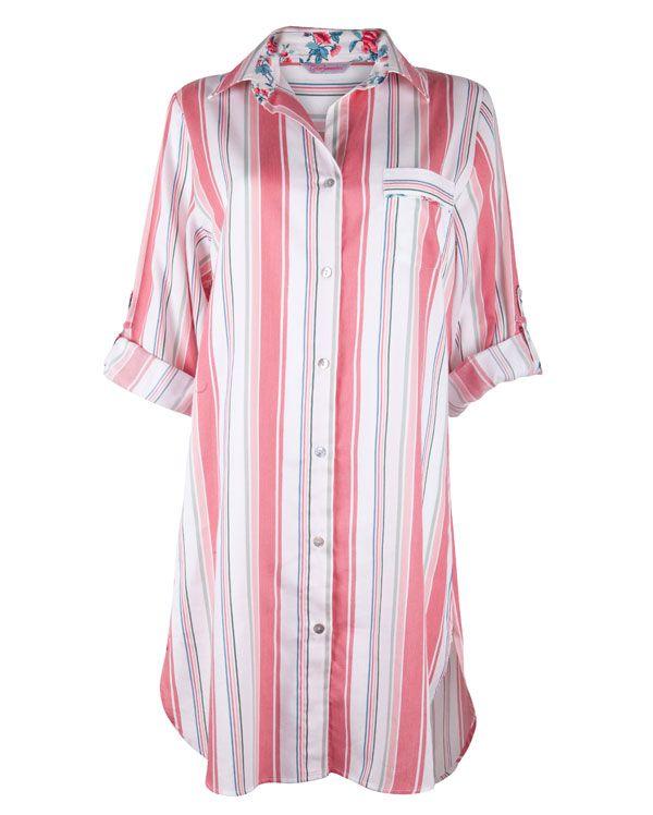 Nora Rose Stripe Nightshirt £27.00