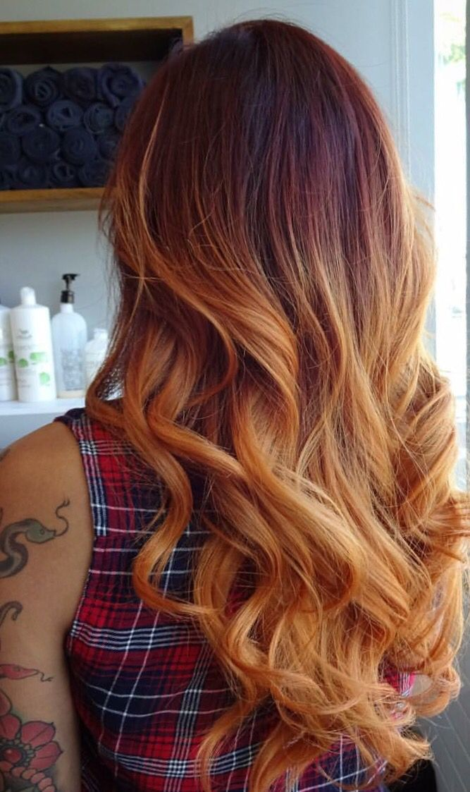 love her hair!!! fire ombre so sexxyyy