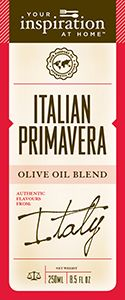 Italian Primavera Oil  Extra virgin olive oil with lime, basil and cracked pepper flavours.