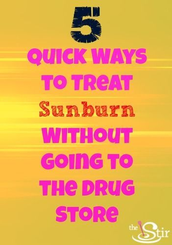 Sunburn Relief right in your kitchen and bathroom!