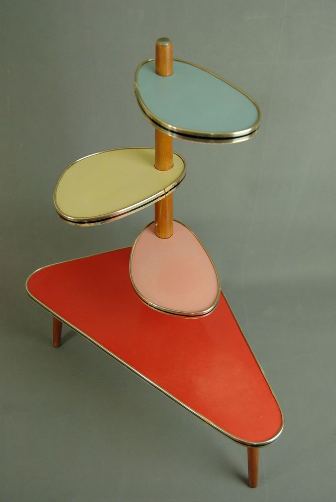 1950s plantstand mid century danish modern plant stand vintage eames 60s 70s - Mid Century Modern Furniture Of The 1950s