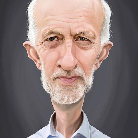 Jeremy Corbyn art | decor | wall art | inspiration | caricature | home decor | idea | humor | gifts