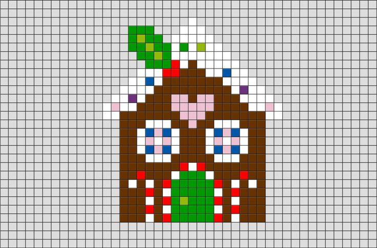 Miniature Gingerbread House chart