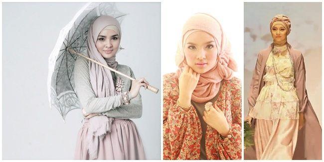 Vemale.com - Mari mengambil inspirasi gaya hijab dan busana muslim dari sang desainer cantik Indonesia, Ria Miranda.�