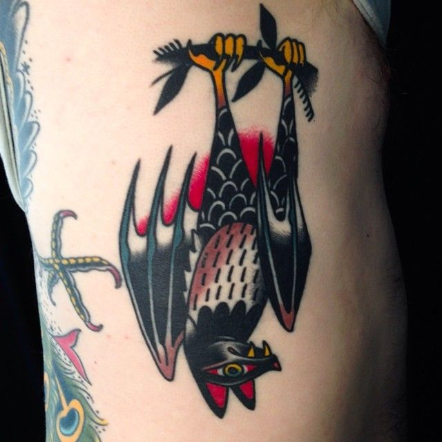 HEALED* bat on Monica Petey @peteydammit I have some time left this month email me done at @idlehandsf #idlehandsf  (at Idle Hand Tattoo)