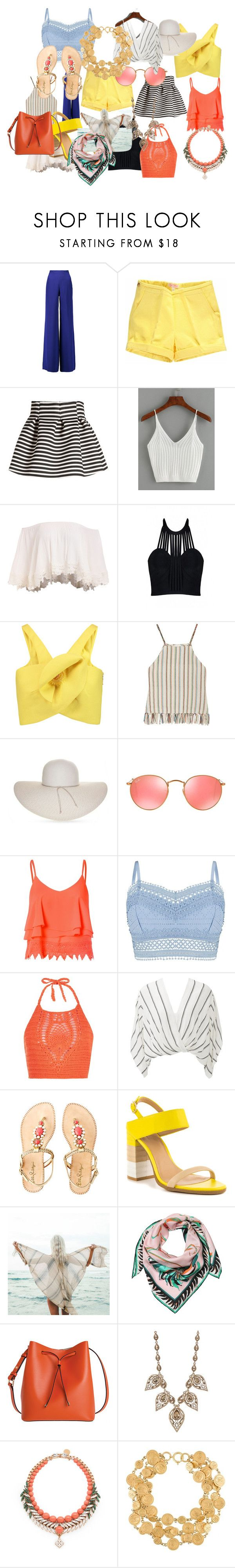 capsule suitcase by ella-vanger on Polyvore featuring Delpozo, Miguelina, Posh Girl, Lipsy, Free People, Glamorous, New Look, Emilio Pucci, Molo and Lilly Pulitzer