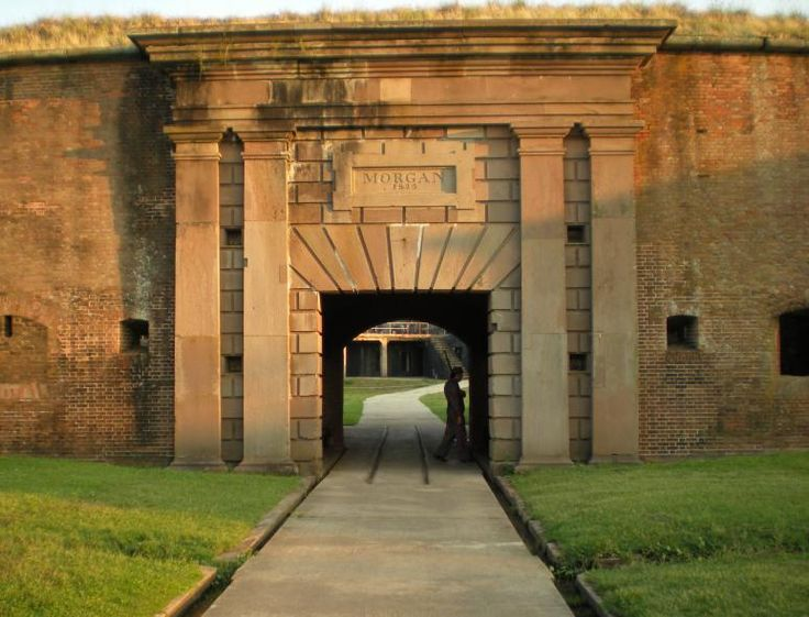 Fort Morgan Candlelight Tours. Free/cheap things to do on Alabama gulf coast.