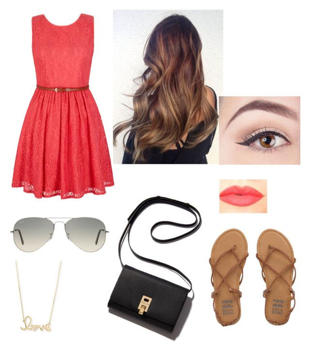 """""""casual outfit"""" by fabulouschloe on Polyvore featuring Ray-Ban, Yumi, Billabong, Sydney Evan and NYX"""