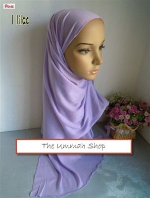 Cotton Jersey Stretch Hijab *Solid* 170*50cm