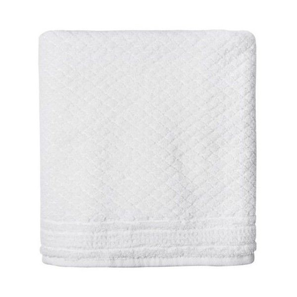 Simple Life White Mosaic Hand Towel By (1,415 DOP) ❤ liked on Polyvore featuring home, bed & bath, bath, bath towels, filler, white fillers, fillers - white, bath towels & washcloths, white cotton hand towels and white washcloths