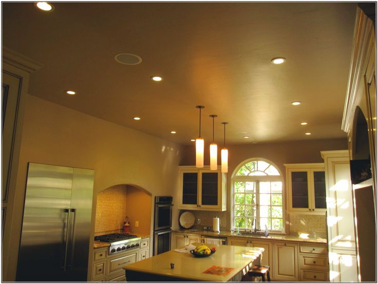 Kitchen With Recessed Lights Design Ideas