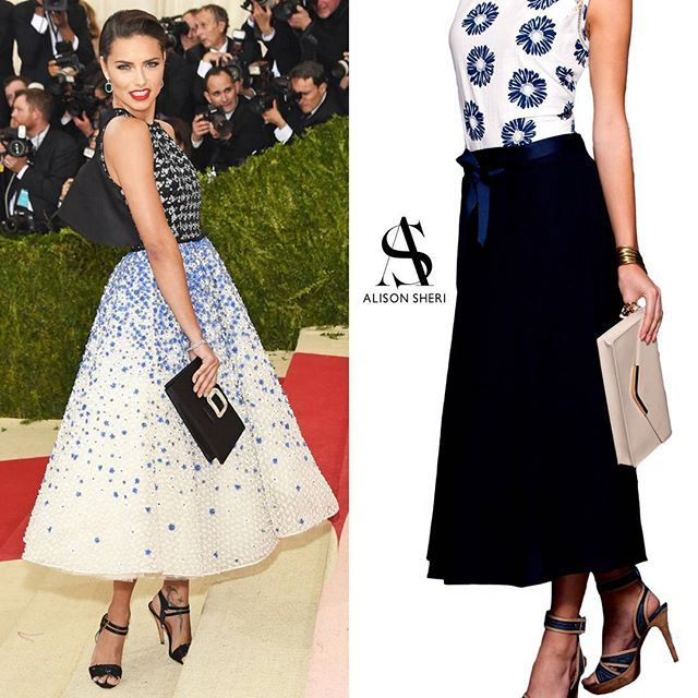@AdrianaLima walked into the met ball with one of the most classic looks we saw on the red carpet.  Style it down a little for every day wear with our skirt for a similar look with more functionality.  #METGala #style #classic — @AdrianaLima s'est presenter au ball avec un des styles les plus classique vu sur le tapis rouge.  Relaxez le look un peu pour une tenue tout-les-jours avec notre jupe similaire.  #METGala #style #classique