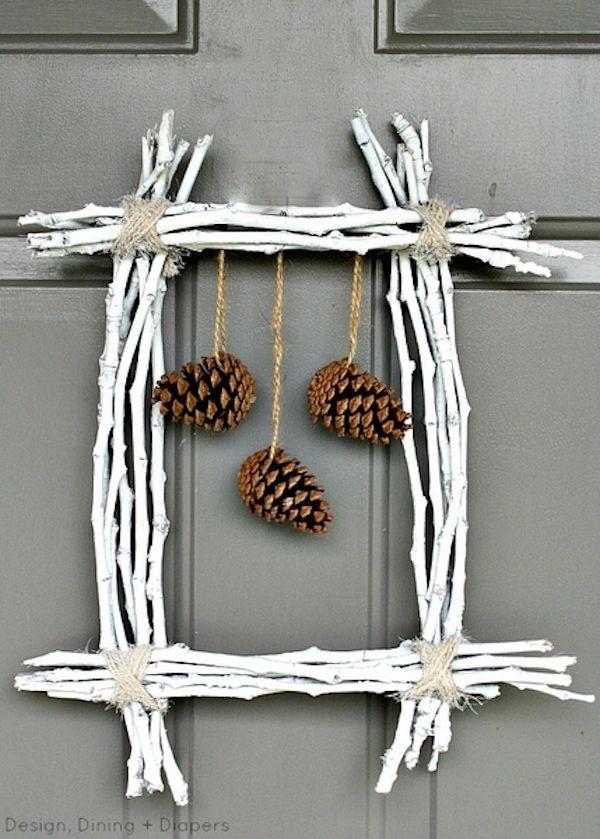 Manualidades de Navidad con piñas