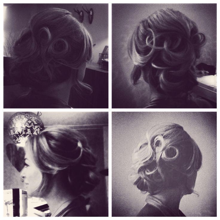romantic hair updo for the premier of Gooische vrouwen 2, red carpet hair.