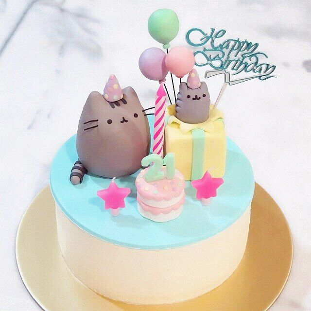 16 best tortas pusheen images on Pinterest Birthdays Cute kittens