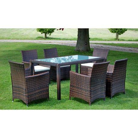 Cool Poly Rattan Gartenm bel Set Sitzgruppe Essgruppe Gartengarnitur Braun