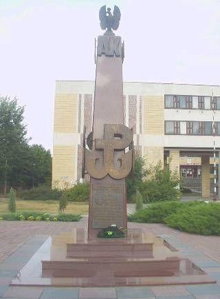 Ostroleka Poland - pomnik AK