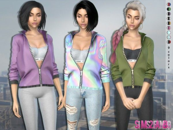The Sims Resource: 370 – Open Jacket with Top by sims2fanbg • Sims 4