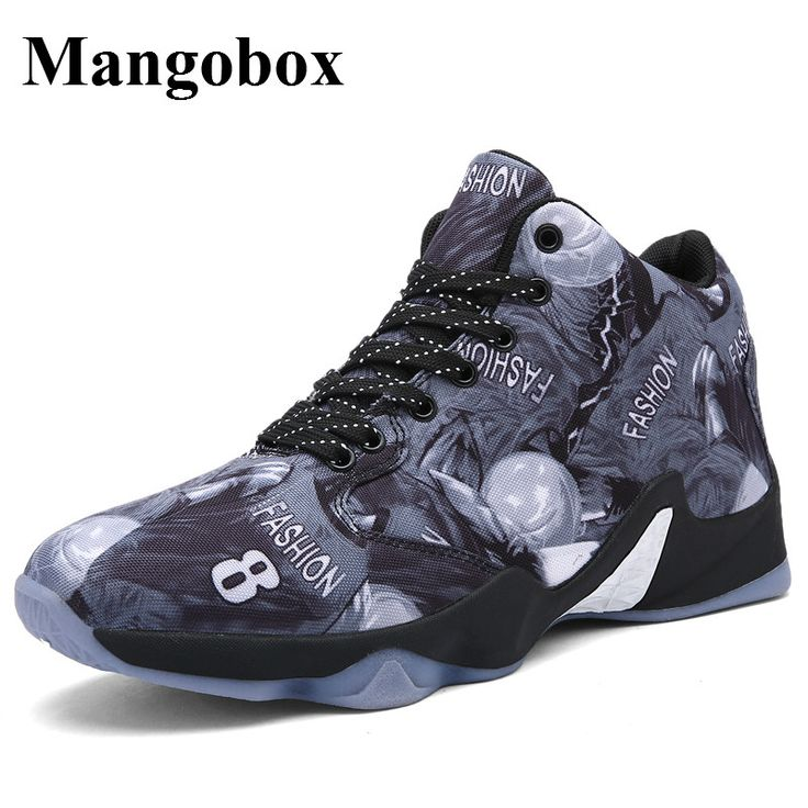 Men's Basketball Shoes Yellow/Red Outdoor Shoes Men Anti-Slippery Mens Basketball Sneakers Cheap High Top Basketball Shoes