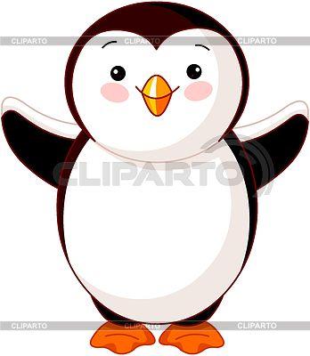 Милый ребенок пингвина | Векторный клипарт | ID 4500540