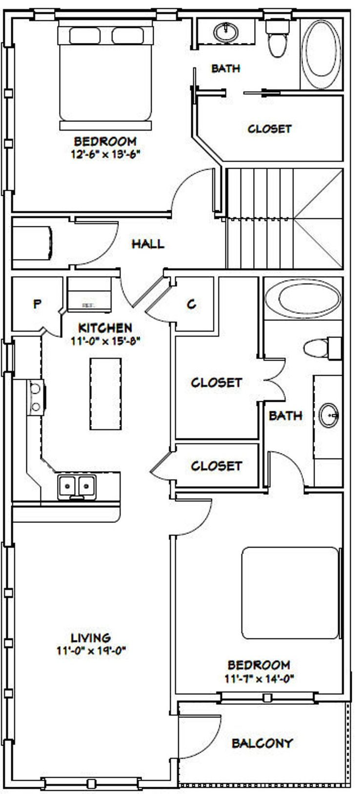 44x48 House 2Bedroom 1.5Bath 1,528 sq ft PDF