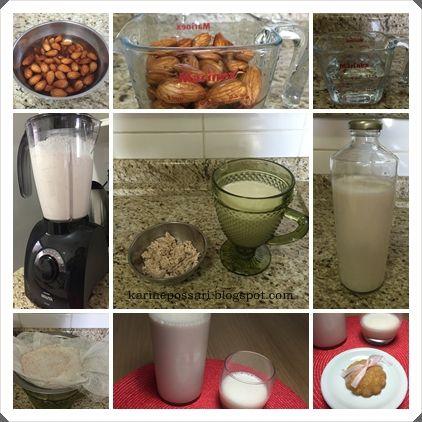 como fazer leite de amêndoa caseiro