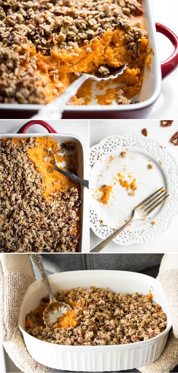 sweetpotatocasserole2   Saweet! Potato Casserole with a Crunchy Nut Crumble (Vegan + GF)