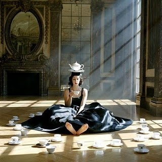 """5 o'clock tea time"" - I really like this photo; it sort of reminds me of Alice in Wonderland."