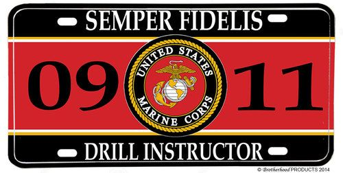 US Marines MOS 0911 Drill Instructor License plate