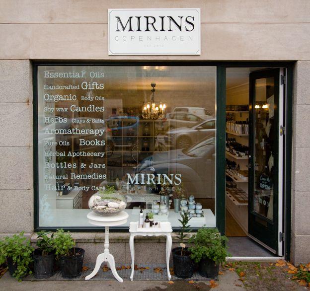 Mirins Copenhagen Natural Skincare | Our little shop in Østerbro