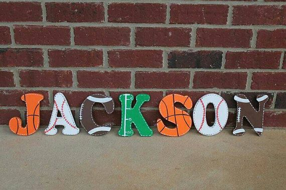 Sports Wooden Letters/football Letters/ Soccer Letters