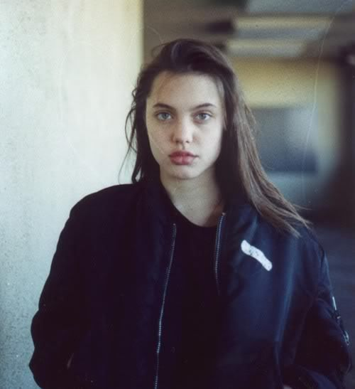 A very young Angelina Jolie.