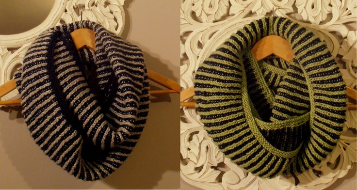 Two Color Brioche Scarf. Pattern from ''The Purl Bee''.