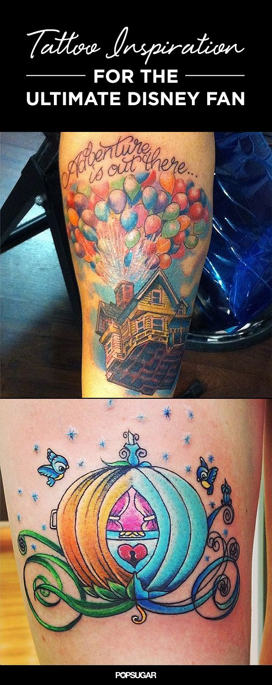 19 Disney-inspired #tattoos that are pure magic! #Disney