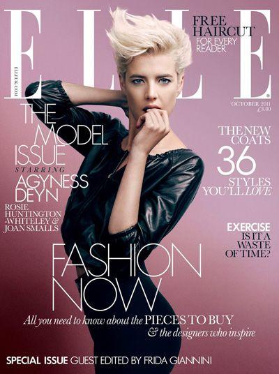 Elle (United Kingdom) - top model Agyness Deyn