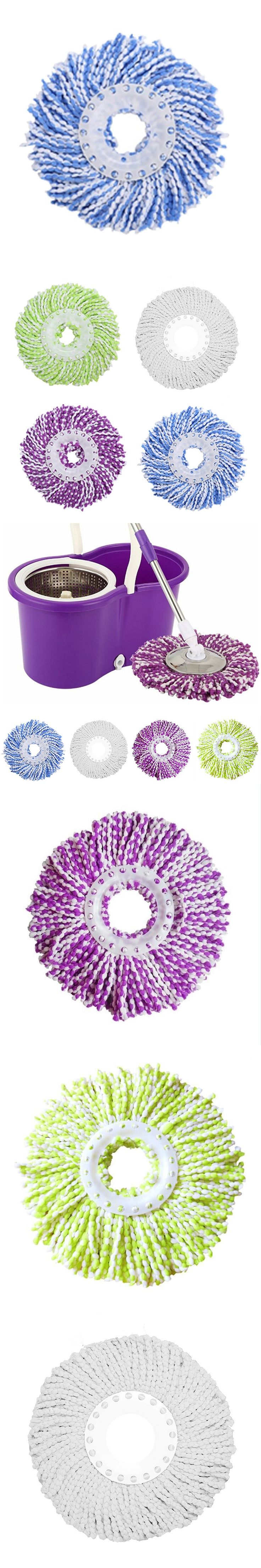 Household Magic Replacement Automatic Mop Head 360 Spin Cleaning Pad Microfiber Home Cleanasy Cleaning Floor Spinning Mop Heads