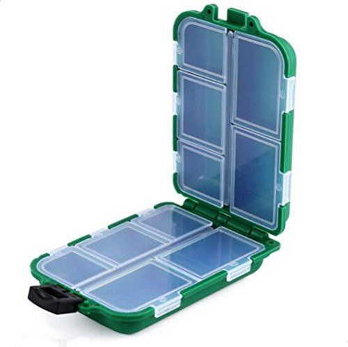 Fishing Tackle Lure Spoon Box Storage Case 10 Compartments Rig Hook Bait >>> You can find out more details at the link of the image.
