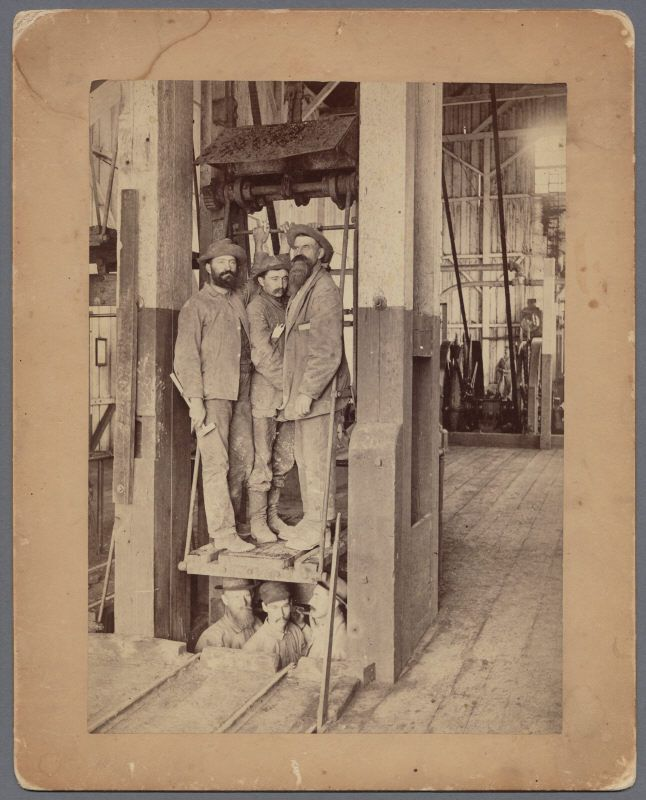 Miners at New Almaden ca 1885 806
