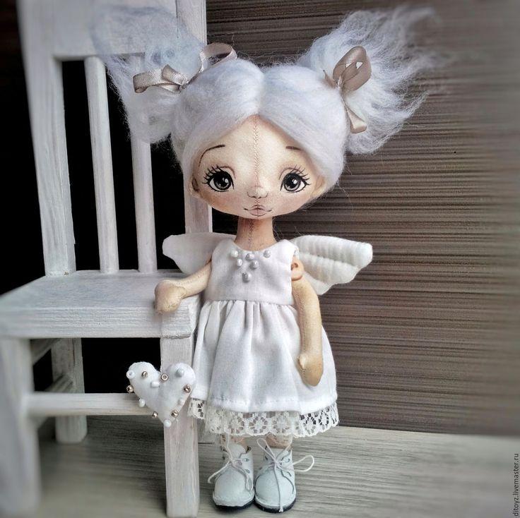 Fabric doll / Купить Ангел светлый, кукла текстильная, 19 см - коллекционная…