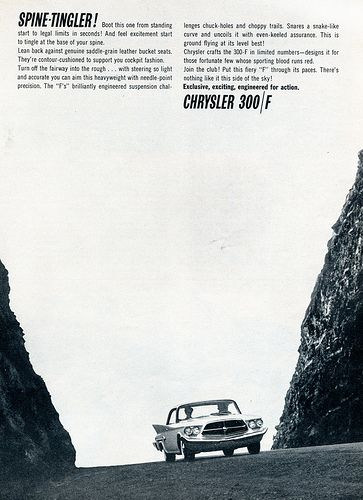 1960 Chrysler 300-F Advertising Sports Car Illustrated July 1960