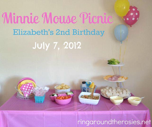 Elizabeth's 2nd birthday {minnie mouse picnic}