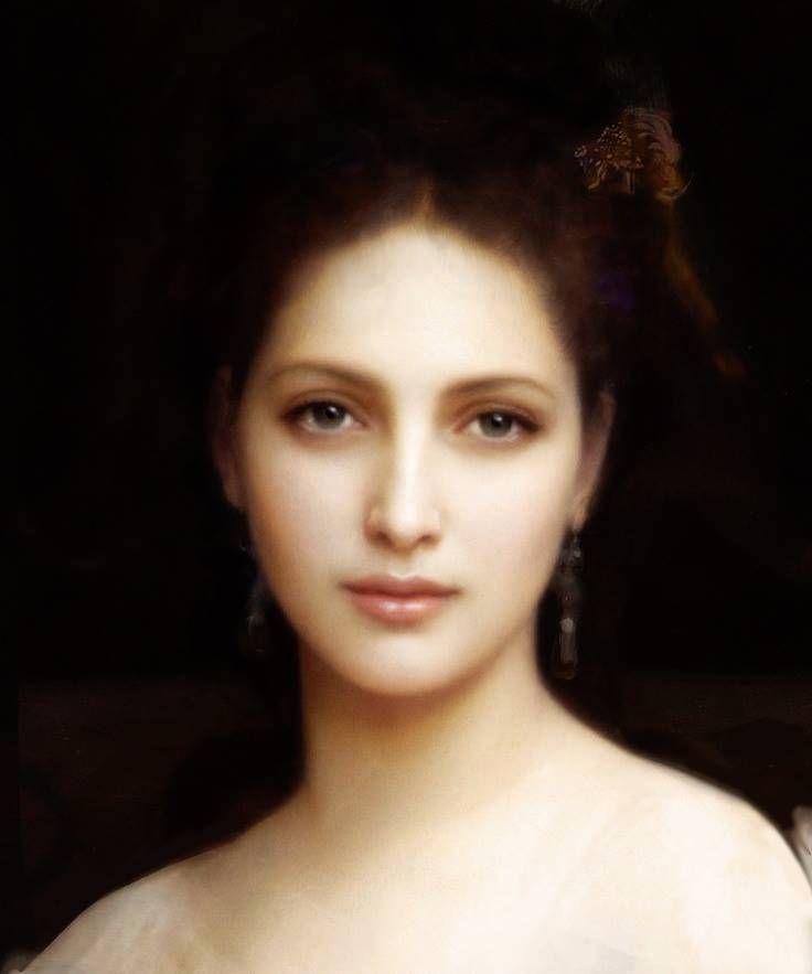 """""""Aphrodite"""" by William-Adolphe Bouguereau. Ce portrait est d'une si grand beauté. Après recherche, plusieurs disent sur le web que ce n'est pas de Bouguereau."""