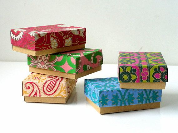 Gift box, Packaging box,wedding favor box, Kraft paper box  -10 assorted printed , Jewelry Packaging Boxes