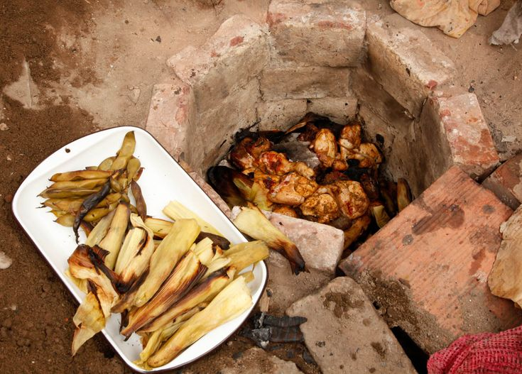 "Pachamanca, which means ""earth oven"" and translates to a big hole dug in the ground that cooks up an entire meal."