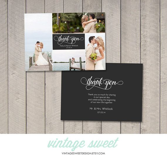 25 best Thank You Cards images on Pinterest Vintage candy - wedding thank you note