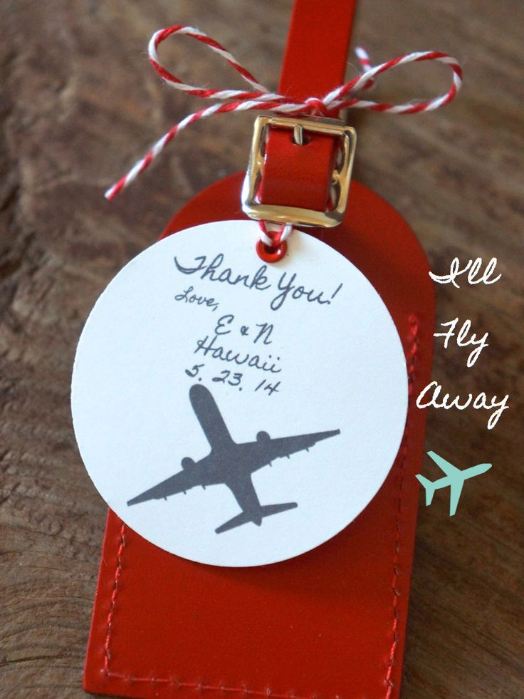 Wedding Favors I'll Fly Away Luggage Tag by ...