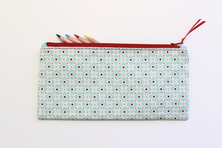 Hearts Pencil Case, Pencil Pouch, Pencil Bag, Small Makeup Bag, Small Zipper Pouch, Gifts Under 20 by LittleFoxSewsLots on Etsy